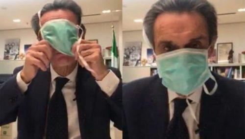 Quella inutile mascherina del Presidente Fontana davanti al ...